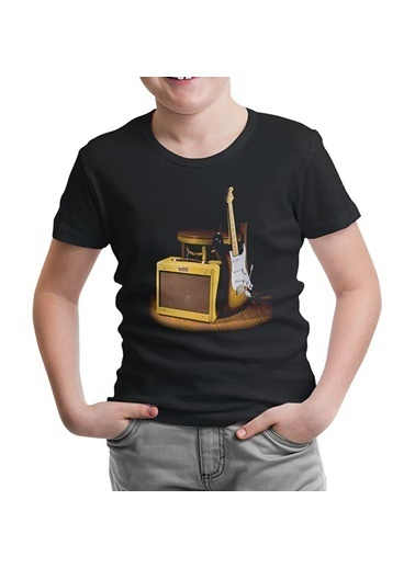 Lord Tshirt Fender And The Rock 'N Roll Siyah Çocuk Tshirt Siyah